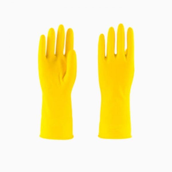 latex-glove-short-yellow