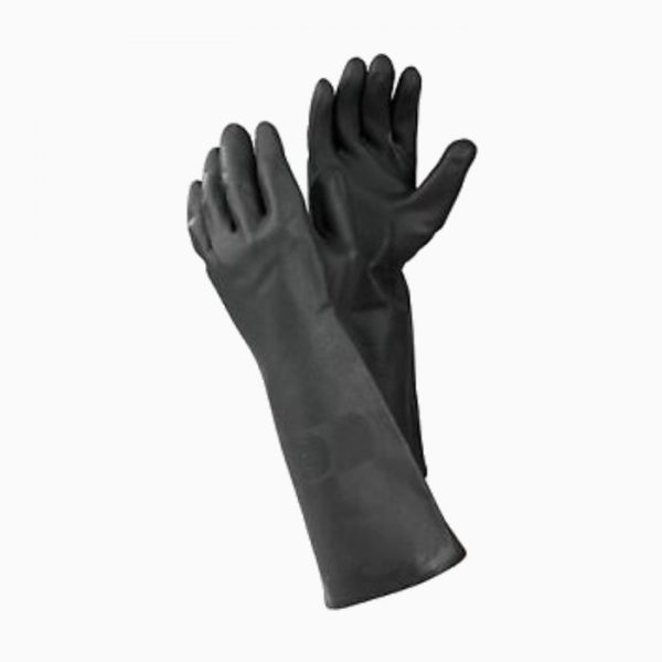 rubber-glove-long-black