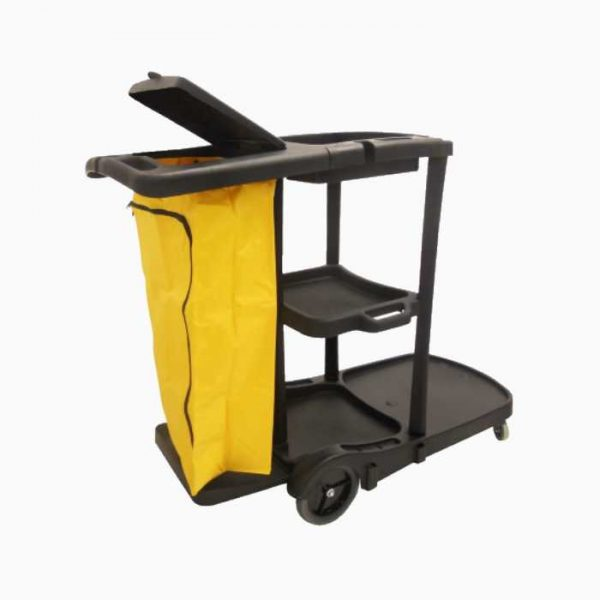 black-janitor-cart